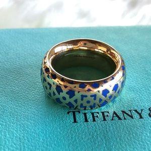 Tiffany & Co Paloma Marrakesh 18k Gold/Enamel Ring